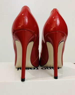 Neue Tolle Lackleder High Heels in rot 38
