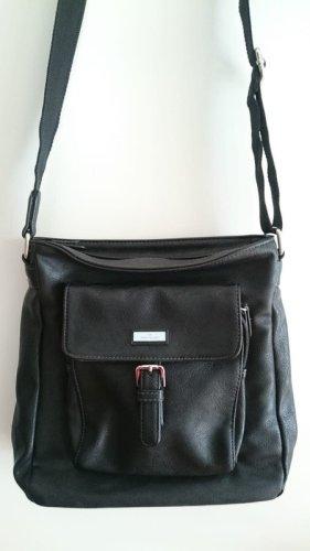 Neue Tom Tailer Shoulderbag in schwarz mit silbernen Applikationen