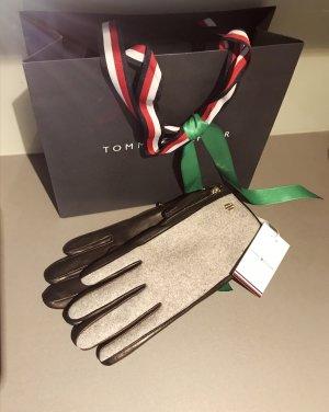 Tommy Hilfiger Leather Gloves black-grey