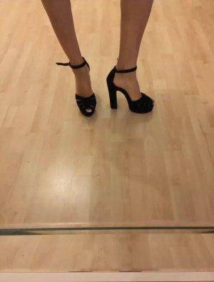 Topshop Platform High-Heeled Sandal black