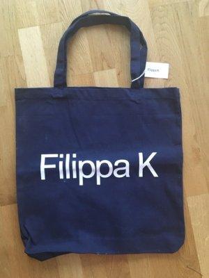 Filippa K Sac fourre-tout bleu foncé-blanc coton
