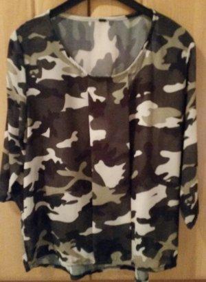 Neue Transparente Camouflage Bluse