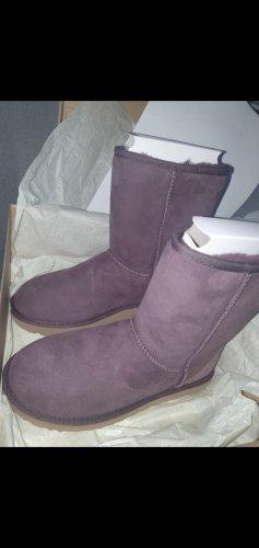UGG Botas de nieve burdeos-púrpura