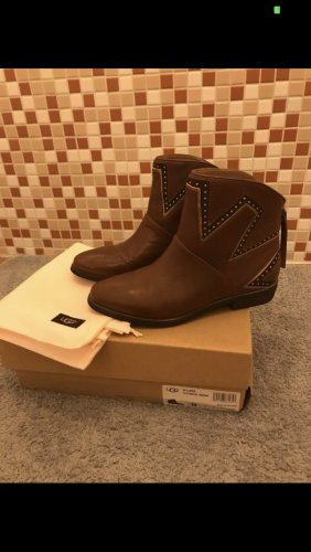 UGG Bottines à enfiler bronze cuir