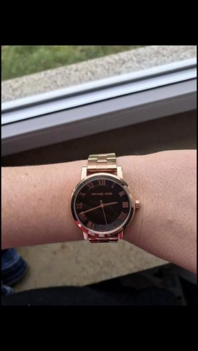Michael Kors Watch With Metal Strap sand brown-black stainless steel