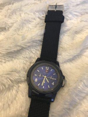 Neue Uhr * dunkelblau mit Nylonband