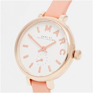 Marc Jacobs Watch With Leather Strap apricot