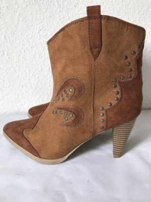 H&M Divided Boots western cognac-brun