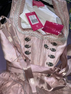 Krüger Dirndl Blouse Dress rose-gold-coloured-turquoise
