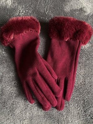 Padded Gloves bordeaux-carmine