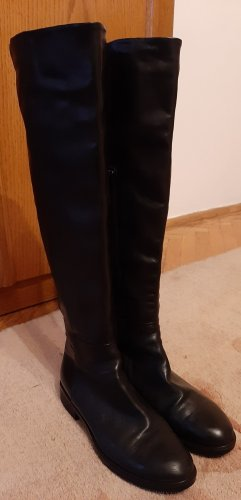 Progetto Overknees black leather