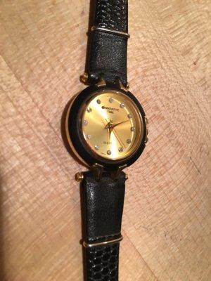 Analoog horloge zwart-goud