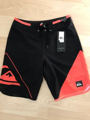 Quicksilver Shorts black-neon orange