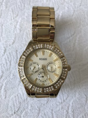 Rivado Watch With Metal Strap gold-colored
