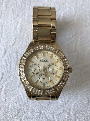 Rivado Montre avec bracelet métallique doré