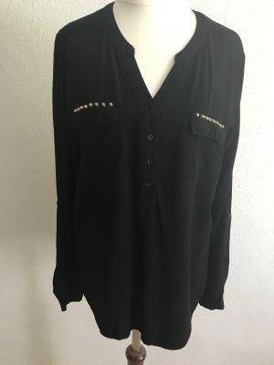 Peckott Long Sleeve Blouse black viscose