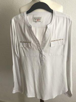 Peckott Long Sleeve Blouse white viscose