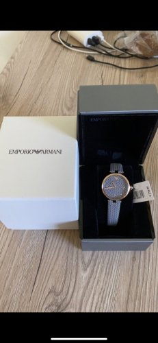 Emporio Armani Montre avec bracelet en cuir multicolore