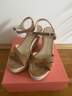 Unisa Espadrille sandalen beige Leer