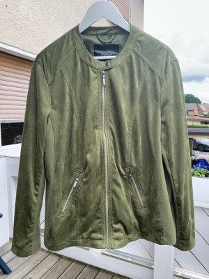 Neue Velours-Lederjacke in khaki von b.p.c. in Größe