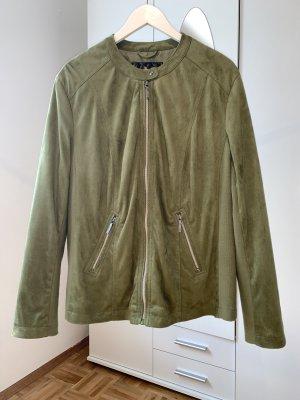 Neue Velours-Lederjacke von b.p.c. in khaki in Größe 50