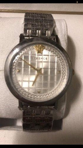 Versace Zegarek z metalowym paskiem srebrny