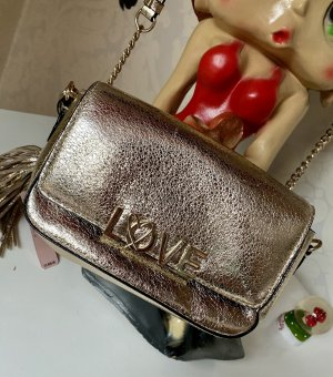Neue Victoria Secret Tasche Umhängetasche Gold metallisch