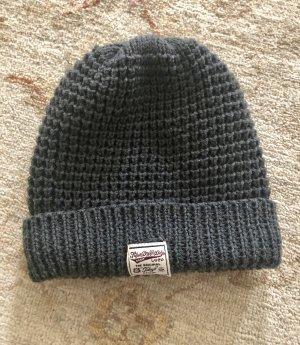 Superdry Chapeau en tricot gris foncé