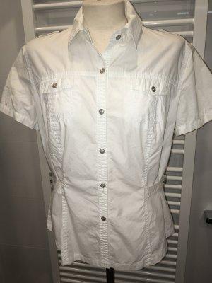 Neue weiße Bluse im Safarilook