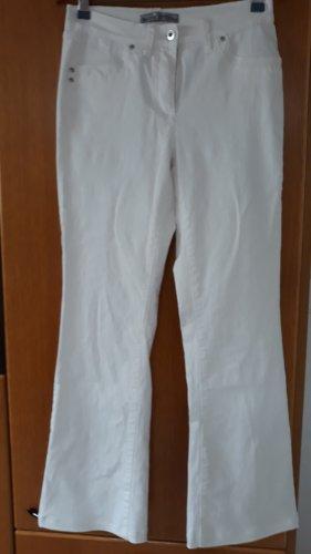 Ashley Brooke Spodnie z pięcioma kieszeniami biały Bawełna