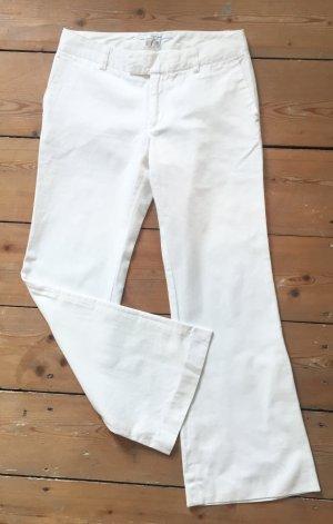 Zara Basic Pantalone a zampa d'elefante bianco-beige chiaro Cotone