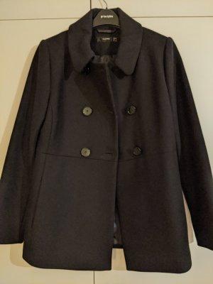Hallhuber Wełniany płaszcz czarny Wełna