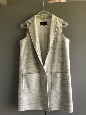 Vila Long Knitted Vest light grey-silver-colored polyester
