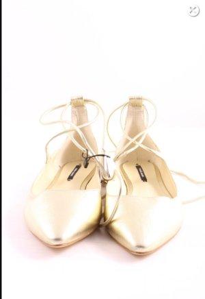 Neue Zara elegante evening ballerina schuhe