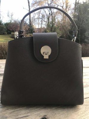 Neue Zara Handtasche - dunkelgrau mit Silber-farbener  Schließe