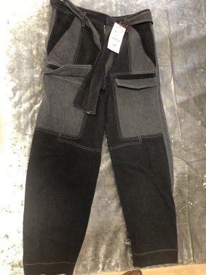 Zara Pantalón de camuflaje negro