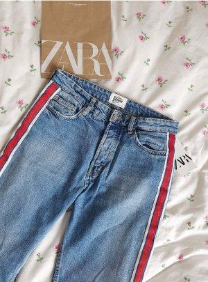 Zara Mom-Jeans Wielokolorowy Bawełna