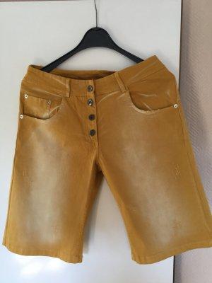 Jeans a 3/4 arancione chiaro