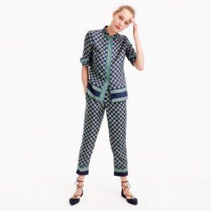 Neuer Anzug im Pyjama Stil aus Seidentwill Größe 38