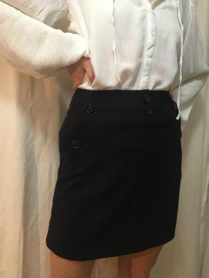 ARKET Miniskirt dark blue wool
