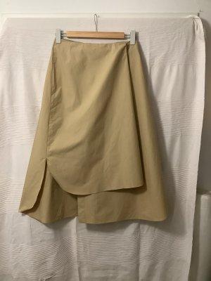 COS Jupe portefeuille chameau-beige clair coton