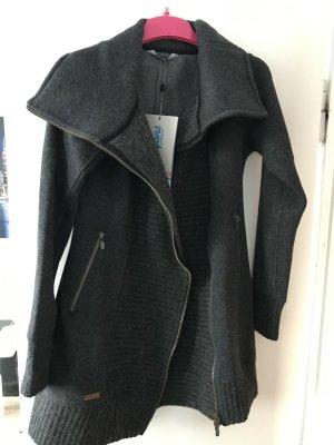 Bergans of Norway Wool Coat dark grey angora wool