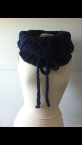 Pieces Écharpe en tricot bleu-bleu foncé