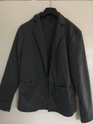 Blazer de lana gris-gris oscuro