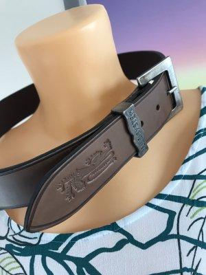 Neuer brauner Ledergürtel * Echtleder * mit Vintage-Schnalle * Neu mit Etikett * von Blue System