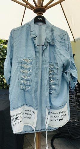 Neuer Cardigan im Jeans Destroyed Look