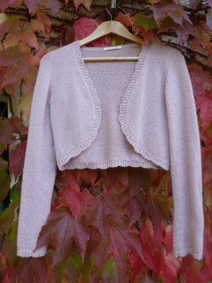Knitted Bolero dusky pink cashmere