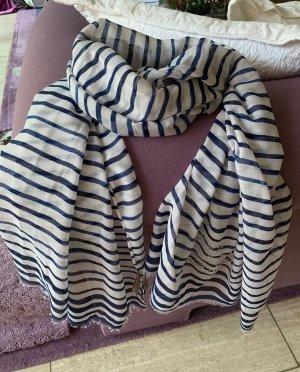 Codello Zomersjaal wit-donkerblauw