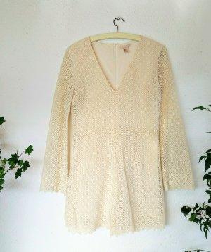 NEUER Cremfarbener Spitzenjumsuit aus Baumwolle H&M Größe 36