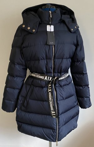 Armani Exchange Down Coat dark blue polyester